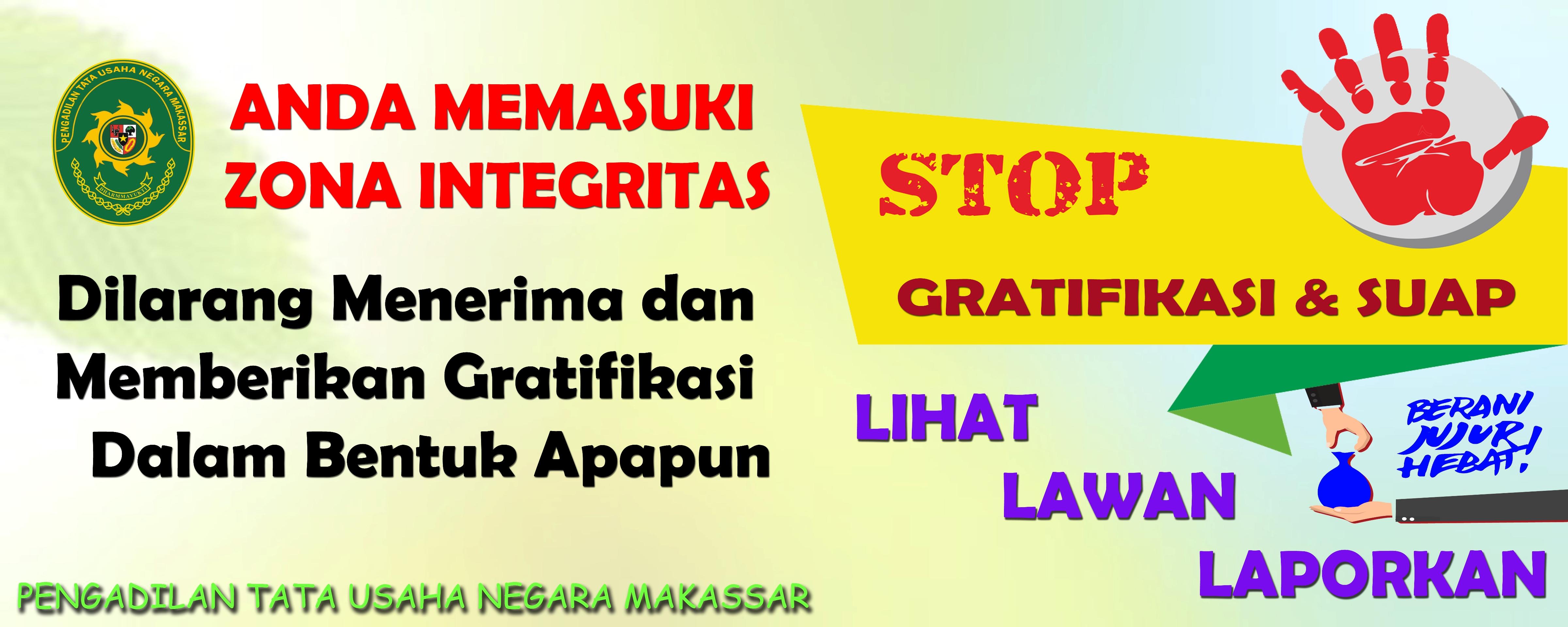 Zona Integritas Pengadilan Tata Usaha Negara Makassar